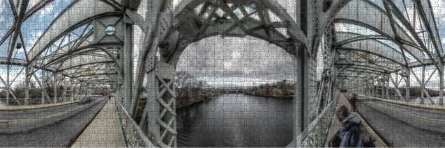Panorama 3152: Falls Bridge Jigsaw Puzzle