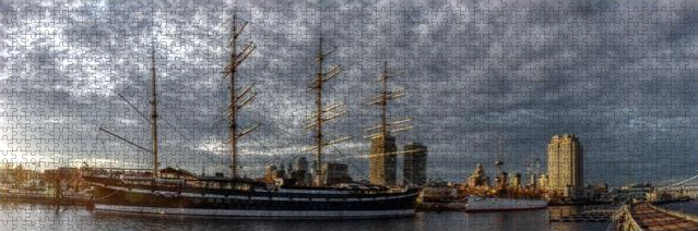 Panorama 2402: Moshulu And Olympia Jigsaw Puzzle